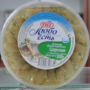 Сельдь  филе кусочки VICI Царская 200гр.