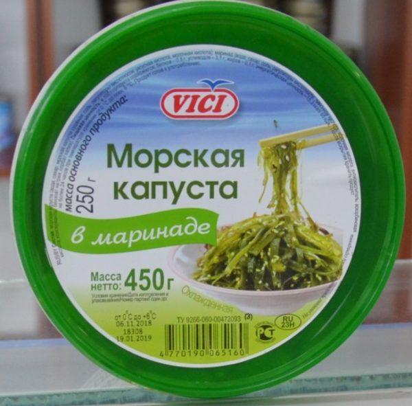 Морская капуста Vici  в маринаде 450 гр.