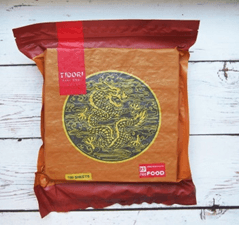 Водоросли морские для приготовления роллов ``Тидори``, 100 листов