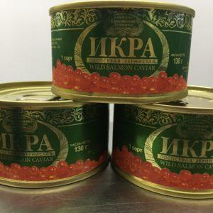 Икра /натуральная лососевая зернистая красная 130 гр