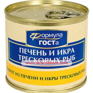 Паштет из Печени и икры тресковых рыб, 220 гр